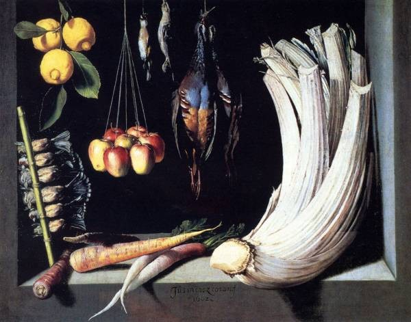 Still Life With Dead Birds Fruit And Vegetables